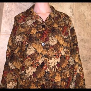 Vintage Floral Light Jacket